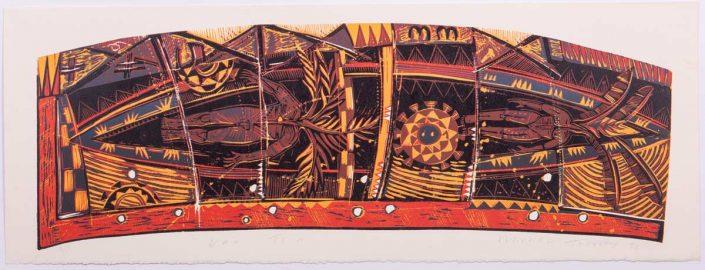Va'a Teini (1998), Woodcut on Paper