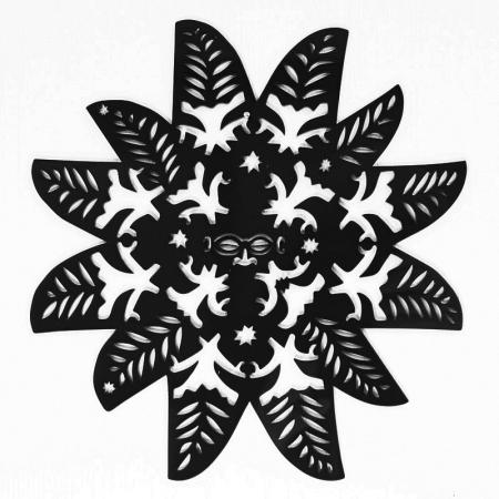 Kuki-Airani-Matariki-star-Black-Acrylic-Front