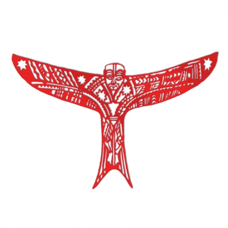 Pe'a Manu Atua (kite) in Red Acrylic
