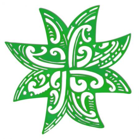 Koru Whetu Matariki lasercut in green acrylic