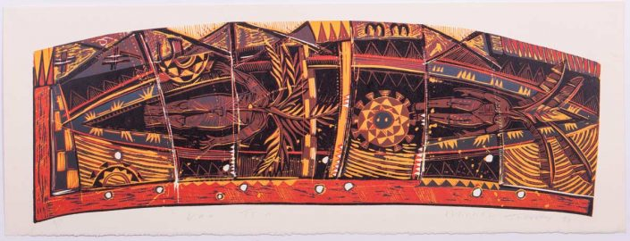 Va'a Teini (1998), Woodcut on Paper
