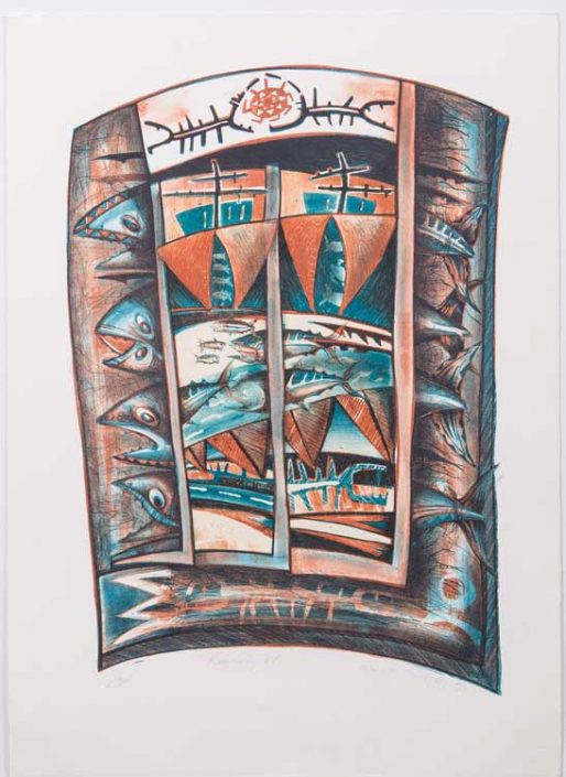 Running E'a (1990) Lithograph on Paper