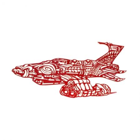 Ma_ohi-Armada-Puoro-Tasi-Red-Acrylic-Front Michel Tuffery