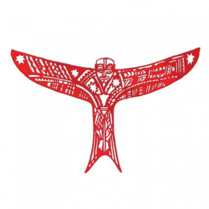 Pe'a Manu Atua (kite) in Red Acrylic