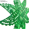 Tuffs green acrylic star for colour reference