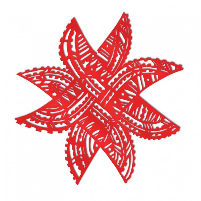Matariki Fatu Pe'a in red acrylic