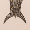 Emboss detail from Tangaroa Harakeke up the Whanganui River print