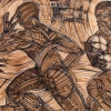 Detail of Polynesian Rugby Tasi print