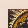 Emboss detail of Number Nine vs Iva Polynesian Player print