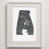 A for print Framed