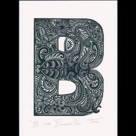 B for Bumble Bee Print
