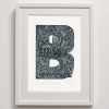 B for Bumble Bee Print framed