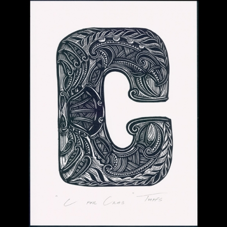C for Crab print