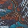 Detail of Cape Petrel inflight at Rakiura Harbour painting by Michel Tuffery