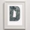 D for Duck Print framed