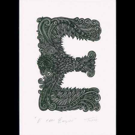 E for Eagle Print