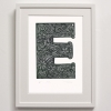 E for Framed Print