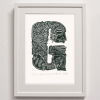 G for Giant Clam from Aitutaki Framed Print