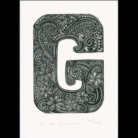 G for Gardenia Print