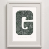 G for Gardenia Framed Print