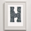H for Horse print framed