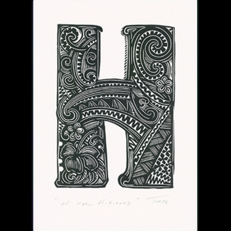 H for Hibiscus Print