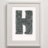 H for Hibiscus Framed Print