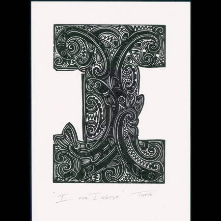 I for Inanga print