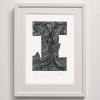 I for Inanga print framed
