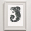 J for Jellyfish print framed