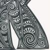 K for Kuki Detailed Print
