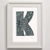 K for Kuki Framed Print