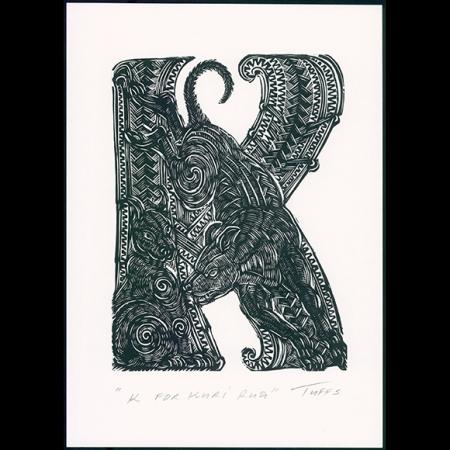 K for Kuri Rua Print