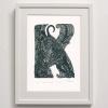 K for Kuri Rua Framed print