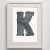 K for Framed Print