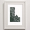 L for Lighthouse Framed Print