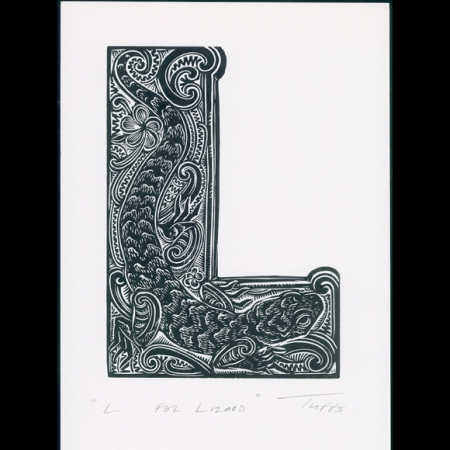 L for Lizard print