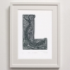 L for Lizard print framed
