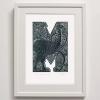 M for Moa Print framed