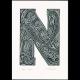N for #1 Print