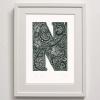 N for #2 Print Framed