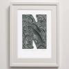 N for print framed