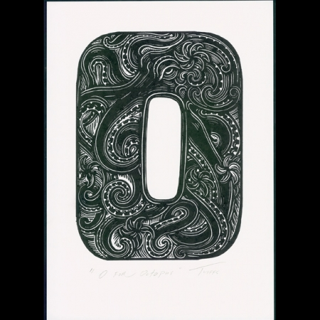 O for Octopus print