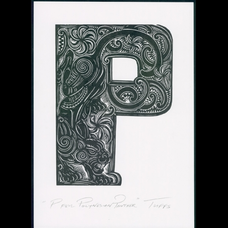 P for Polynesian Panther print