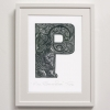 P for Polynesian Panther print framed