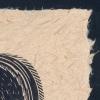 Detail of Q for Quail print on Harakeke paper