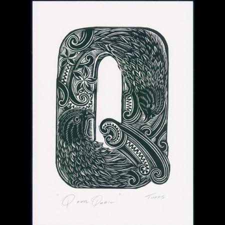 Q for Quail Print