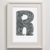 R for Rapeti Print framed