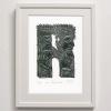 R for Rarotonga Print Framed