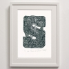 S for South Savaii Print Framed